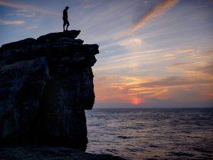Climber atop Pulpit Rock