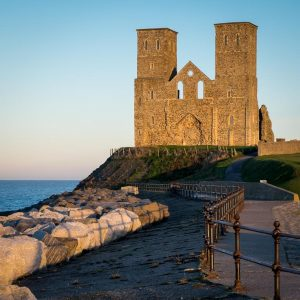 Reculver Towers evening light