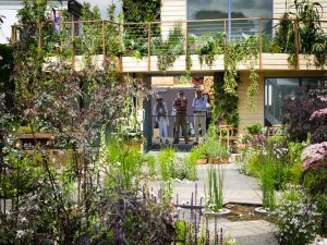General view of the RHS Greening Grey Britain Garden at the Chelsea Flower Show
