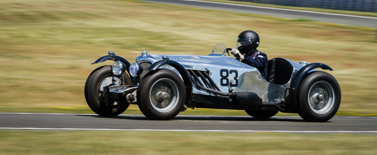 Brooklands speed trial competitor