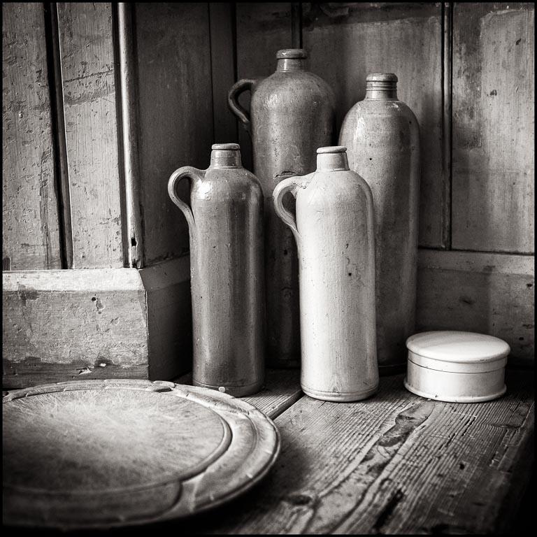 Old stone bottles