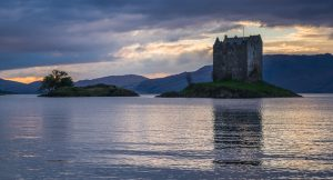 Castle Stalker sunset