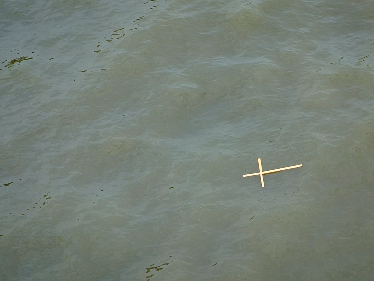 Cross on the water