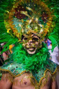 An elaborate costume